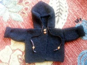 wren hill knit baby sweater